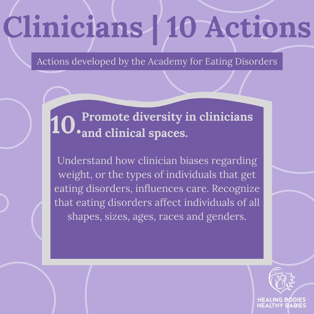 Clinicians - Action 10