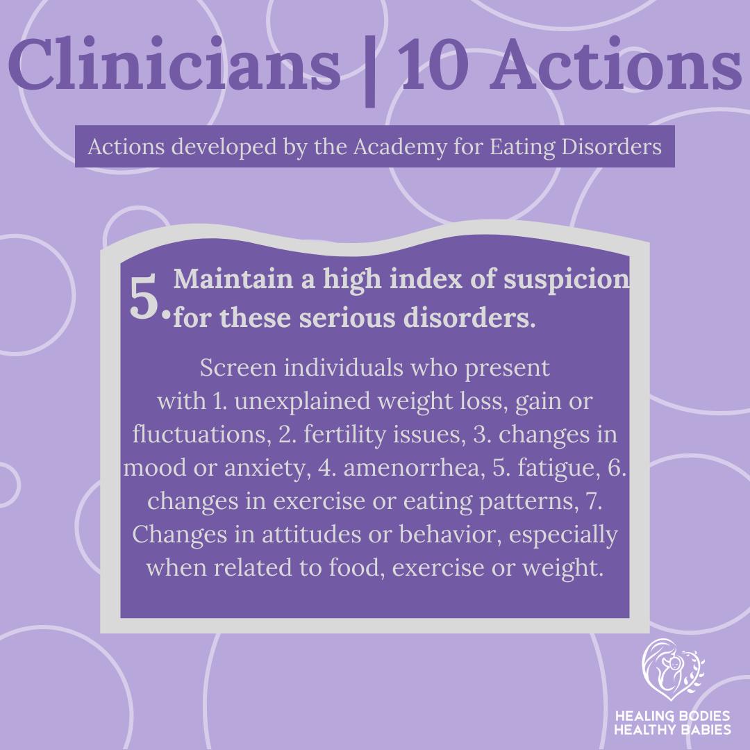 Clinicians - Action 5