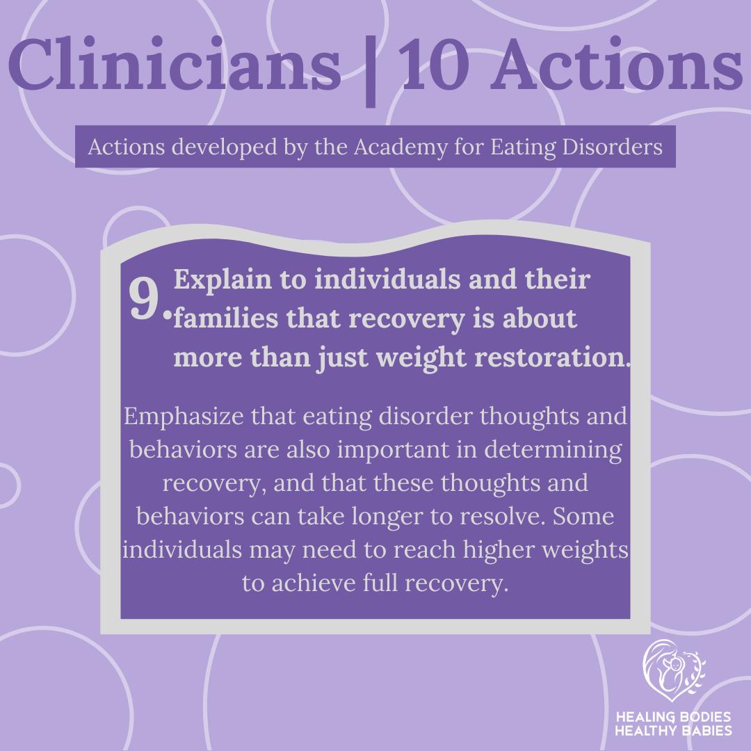 Clinicians - Action 9